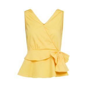 Mint&berry Halenka 'sleeveless wrap top w/bow'  limone