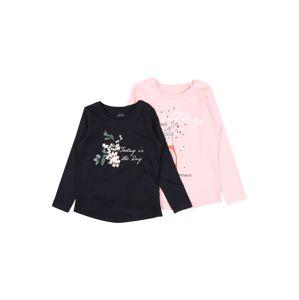 NAME IT Tričko  světle růžová / tmavě modrá