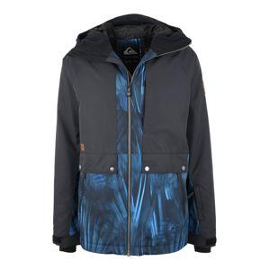 QUIKSILVER Sportovní bunda 'Ambit'  černá / světlemodrá / tmavě modrá