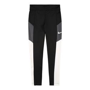 NIKE Sportovní kalhoty 'TROPHY'  černá / bílá / šedá
