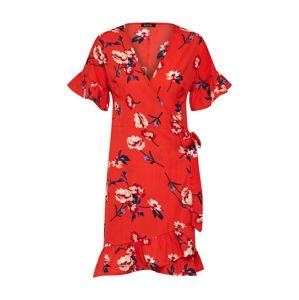 Boohoo Letní šaty  mix barev / červená
