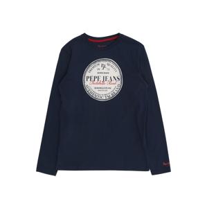 Pepe Jeans Tričko 'Jamess'  námořnická modř / bílá / červená