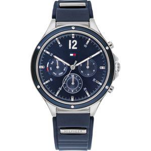 TOMMY HILFIGER Analogové hodinky 'Eve'  tmavě modrá / stříbrná