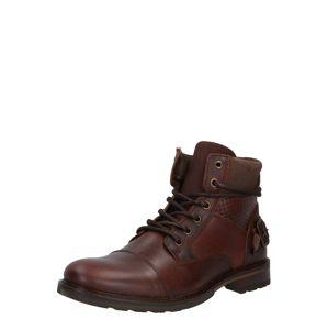 BULLBOXER Šněrovací boty  hnědá