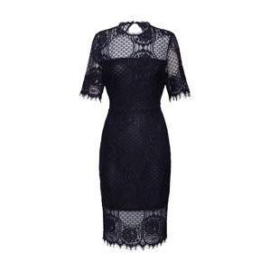 Pop Copenhagen Koktejlové šaty 'Lace Panel '  černá