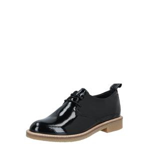 HUB Šněrovací boty 'Braga'  černá