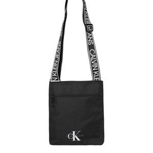 Calvin Klein Jeans Taška přes rameno 'FLATPACK W/PCKT'  černá