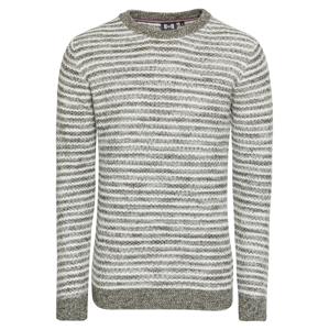Hailys Men Svetr 'Nordic'  khaki / barva bílé vlny
