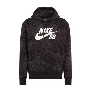 Nike SB Mikina  antracitová / bílá / černá