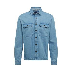 JACK & JONES Košile  modrá džínovina