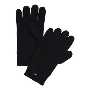 TOMMY HILFIGER Prstové rukavice 'Pima'  tmavě modrá
