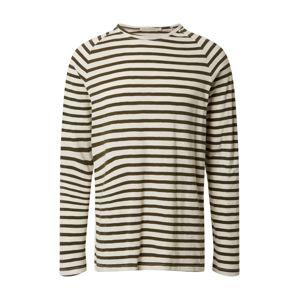 Nudie Jeans Co Tričko 'Otto Breton'  barva vaječné skořápky / černá