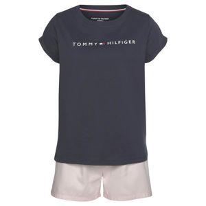 TOMMY HILFIGER Pyžamo  pastelově růžová / tmavě modrá