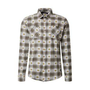 SHINE ORIGINAL Košile  khaki / offwhite / tmavě hnědá / žlutá