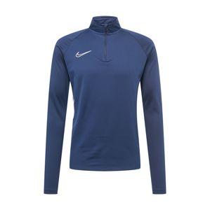 NIKE Funkční tričko ' Academy Drill'  marine modrá / bílá