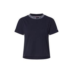 Tommy Jeans Tričko 'TJW BRANDED NECK TEE'  námořnická modř
