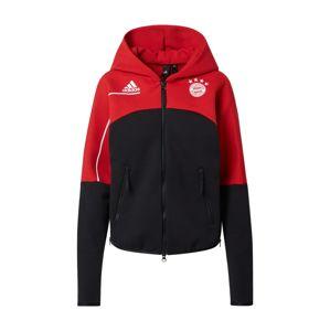 ADIDAS PERFORMANCE Sportovní bunda  červená / černá