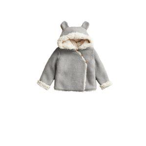 MANGO KIDS Přechodná bunda 'JAIME'  šedý melír / krémová