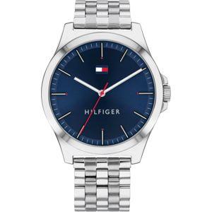 TOMMY HILFIGER Analogové hodinky '1791713'  stříbrná / modrá