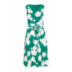 COMMA Šaty  zelená / bílá