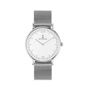 Kapten & Son Analogové hodinky 'Campina Mesh'  stříbrná / bílá