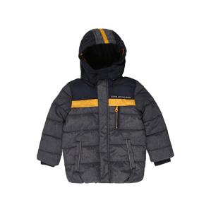 s.Oliver Zimní bunda  šedý melír / tmavě modrá / žlutá