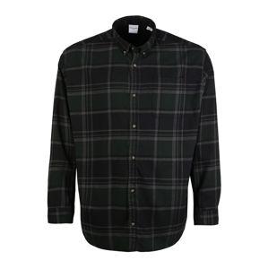JACK & JONES Košile  šedá / tmavě zelená / černá