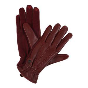 ESPRIT Prstové rukavice  vínově červená