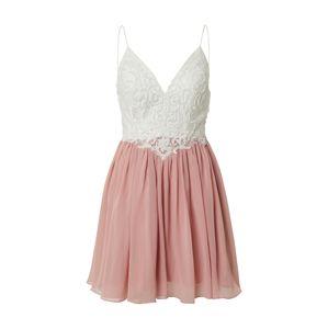 Laona Koktejlové šaty  krémová / bledě fialová