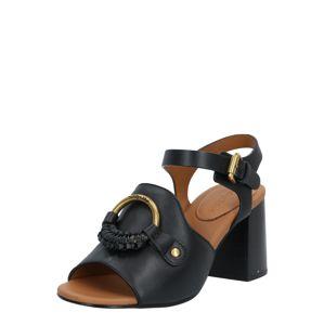See by Chloé Páskové sandály  černá