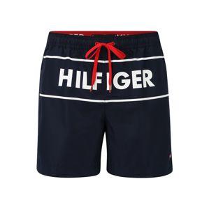 TOMMY HILFIGER Plavecké šortky  námořnická modř / bílá / červená