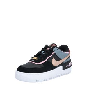 Nike Sportswear Tenisky 'Air Force 1 Shadow'  černá / pudrová / kouřově modrá