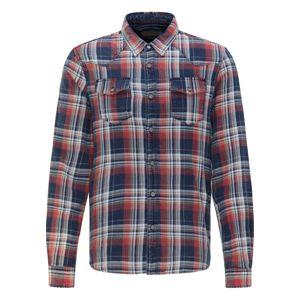 Petrol Industries Košile  bílá / námořnická modř / bordó / ohnivá červená / tmavě béžová