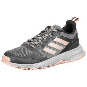 ADIDAS PERFORMANCE Běžecká obuv 'Rockadia Trail 3.0'  stříbrně šedá / bílá / světle růžová