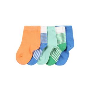 NAME IT Ponožky 'RALONO'  modrá / bílá / zelená / broskvová