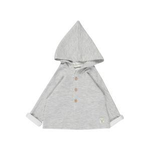 UNITED COLORS OF BENETTON Pletená bunda  světle šedá / bílá