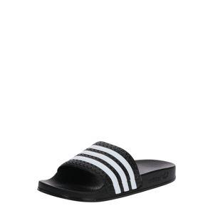 ADIDAS ORIGINALS Otevřená obuv 'ADILETTE J'  bílá / černá