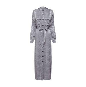 mint&berry Košilové šaty  stříbrně šedá / stříbrná