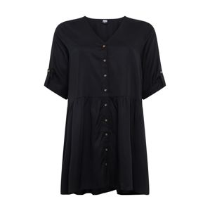 Urban Classics Curvy Šaty 'Babydoll'  černá