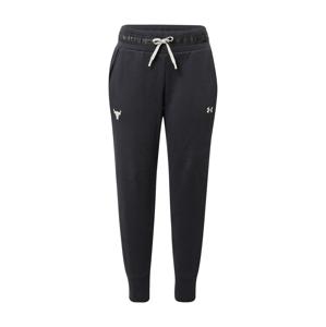 UNDER ARMOUR Sportovní kalhoty  černá / bílá