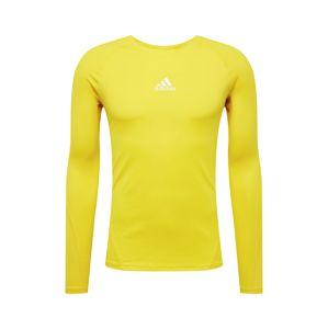 ADIDAS PERFORMANCE Funkční tričko  žlutá / bílá