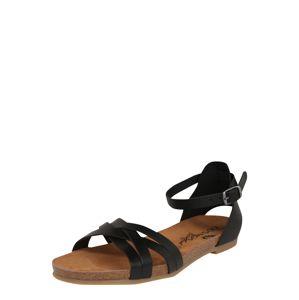 COSMOS COMFORT Páskové sandály  černá
