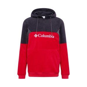 COLUMBIA Sportovní svetr 'Lodge II'  černá / červená