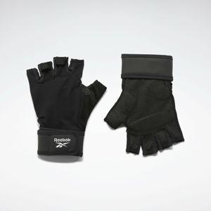 REEBOK Sportovní rukavice  černá / bílá