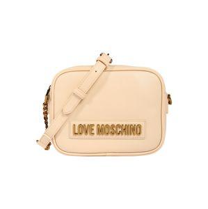 Love Moschino Taška přes rameno 'Smooth'  světle béžová / zlatá