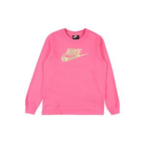 Nike Sportswear Mikina  zlatá / pink