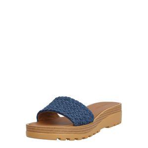 See by Chloé Pantofle  modrá / hnědá