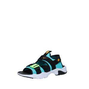 Nike Sportswear Sandály 'Canyon'  tyrkysová / černá / svítivě žlutá