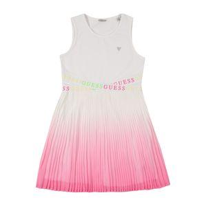 GUESS KIDS Šaty  bílá / růžová / svítivě zelená / žlutá