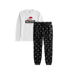 HOLLISTER Domácí oblečení  tmavě šedá / bílá